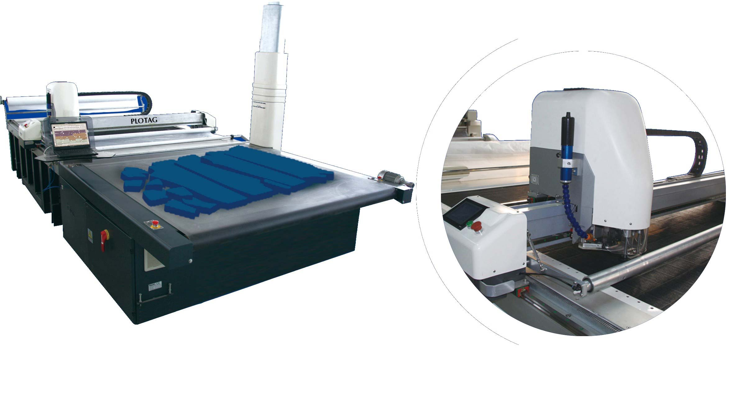 Maquina de corte de tecido automatica