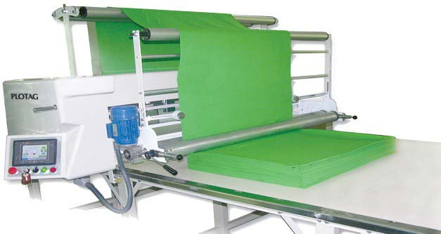 Maquina de enfestar tecido automatica