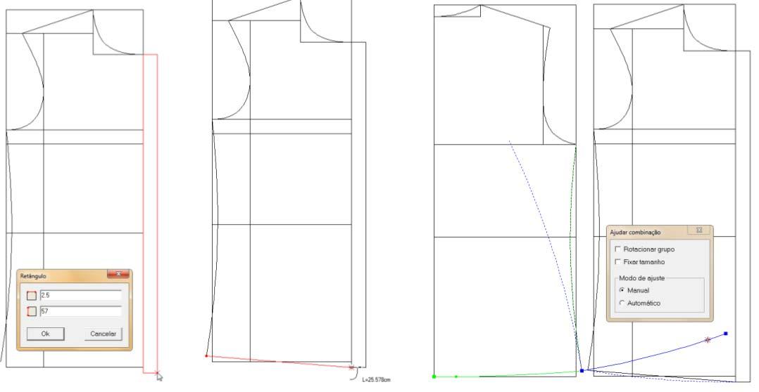 Programa para desenhar molde de roupas